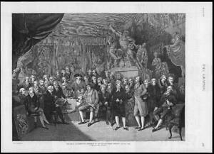 1886-Antique-Print-LONDON-Royal-Academy-Council-Room-Somerset-House-1793-191