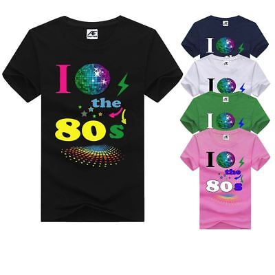 I Love The 80s Ladies Top Eighties Printed Tshirt Womens 80's Short Sleeve Tee