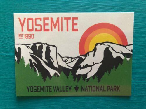 "YOSEMITE National Park California 2.5/"" x 3.5/"" Vinyl UV Sticker Car Laptop Bottle"