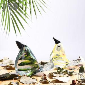 Crystal-Blown-Bird-Handmade-Paperweight-Art-Glass-Animal-Figurine-Ornament-Decor
