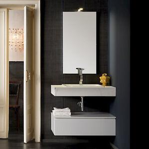 T125 06 – Mobile arredo bagno sospeso L 85 cm personalizzabile ...