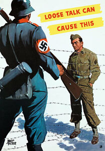 2W56-Vintage-WWII-Loose-Talk-Can-Cause-This-Prisoner-War-Poster-WW2-A1-A2-A3