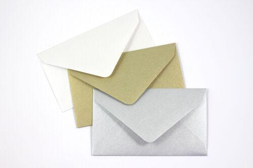 "Colored Gift Card Small Metallic Mini Envelopes 2.5/"" x 4.25/"""