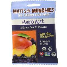 Matt's Munchies Fruit Snack, 1 oz bags, Mango Acai 12 bags