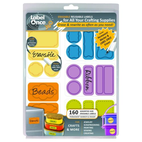 Jokari Label Once Crafts /& More Erasable Reusable Labels 160ct
