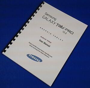 samsung galaxy tablet tab pro 12 2 user manual wifi model sm t900
