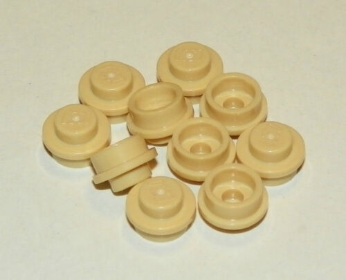 Plate LEGO X6 Round 1 x 1 Straight Side - Tan
