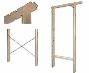 Controtelaio in legno per porte interne universale 60 70 for Spranga universale per porte