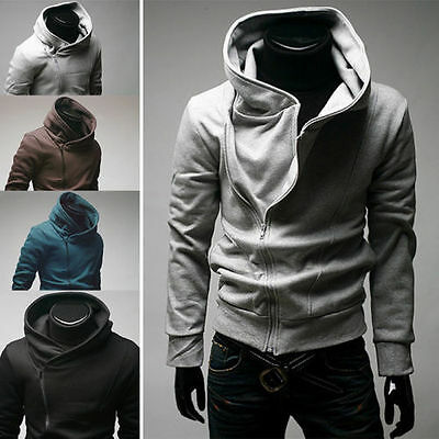 Stylish Creed Hoodie Cool Slim men's Cosplay For Assassins Jacket Costume Tops