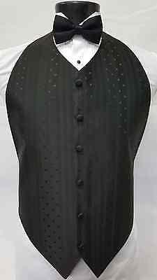 Mens XL X Large Purple Tuxedo Vest Bowtie Formal Wedding Style Occasion Vests