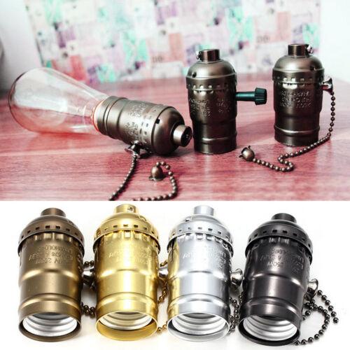 E27 Lampenfassung Lampensockel.\ocket Halter Anhänger Retro Vintage lampenfußNeu