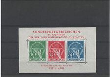 ALLEMAGNE.BERLIN 1949.BLOC FEUILLET **.VICTIMES DE LA REFORME MONETAIRE Y&T N° 1