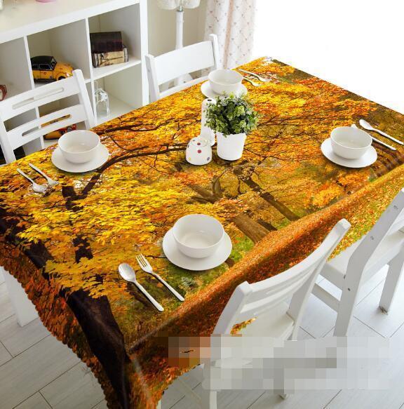 3D Autumn 52 Tablecloth Table Cover Cloth Birthday Party Event AJ WALLPAPER AU