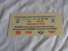 Miniatur Zuglaufschild Kunststoff  - Telemark Historischer ET 25015 - DB