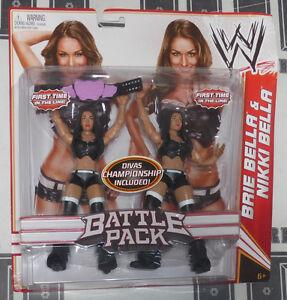 Les Bella Twins - Figurine articulée Bottes de combat Nikki & Brie avec ceinture Total Divas Nouveau 746775066741