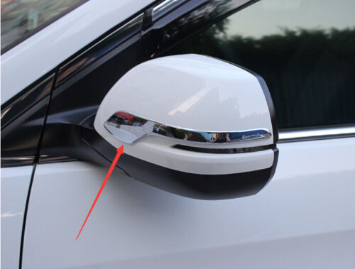 Chrome Car Door Rearview Mirror Strip Cover Trim 2X For Honda CRV CR-V 2012-2016
