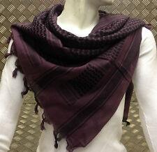 100% Cotton Shemagh / Arab Scarf / Pashmina / Wrap / Sarong. Purple & Black NEW