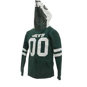 best website c5dc1 8d159 Details about New York Jets Official NFL Apparel Kids Youth Size Full Zip  Hooded Sweatshirt