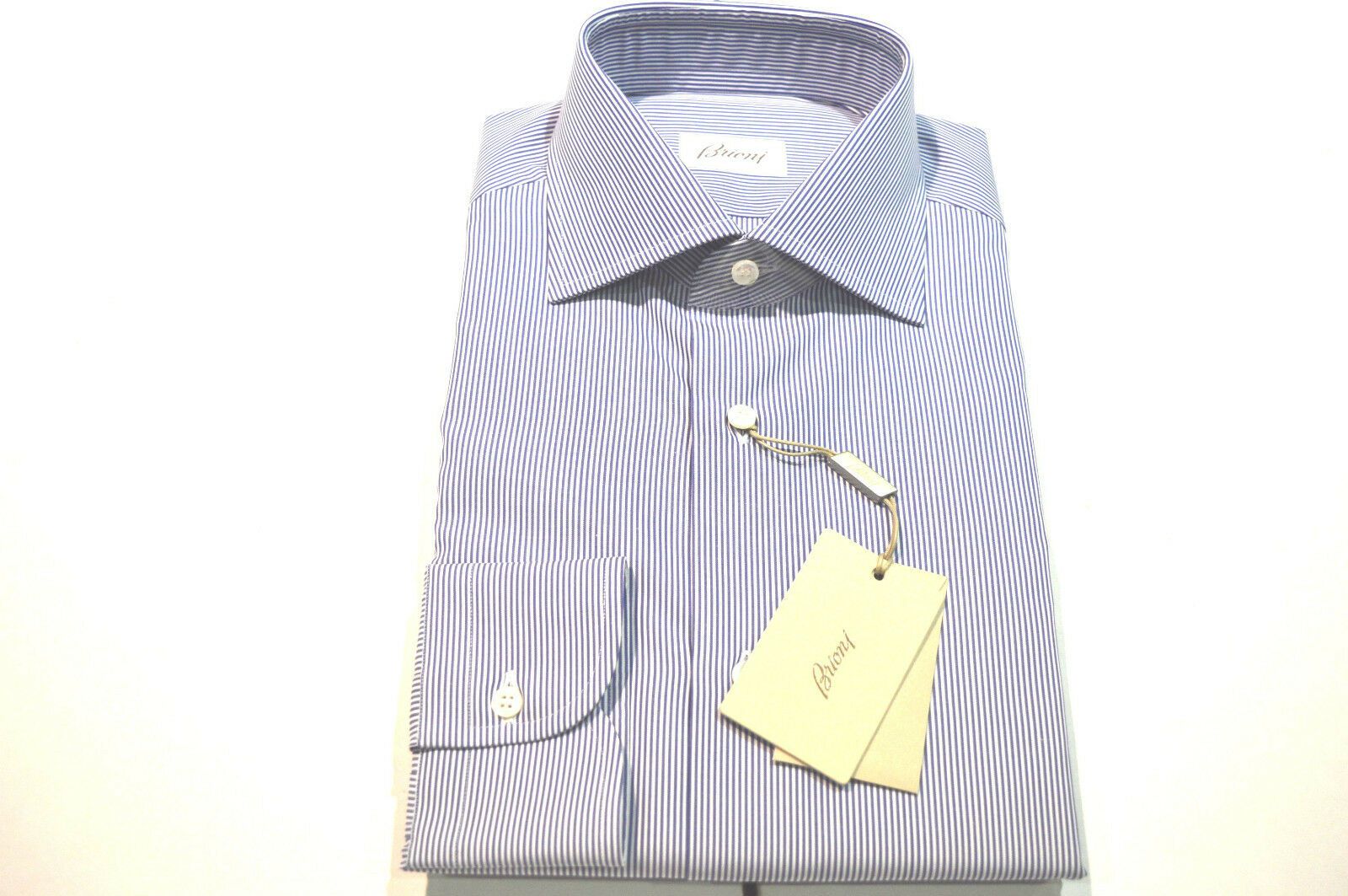 NEW  BRIONI Dress hemd 100% baumwolle Größe 17 Us 43 Eu  (Store Code SE20)