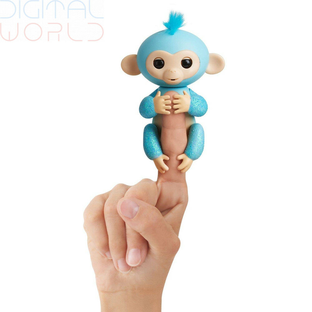 Fingerlings Glitter Monkey - Amelia (Turquoise bluee Glitter) - Interactive...