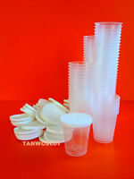 360 X Disposable Cups And Lids For Sunbed Salon Tanning Lotion Cream Samples