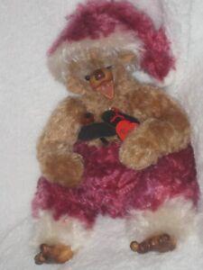Ours Teddy Bear Artiste Ruth Heer Père Noël Niggi