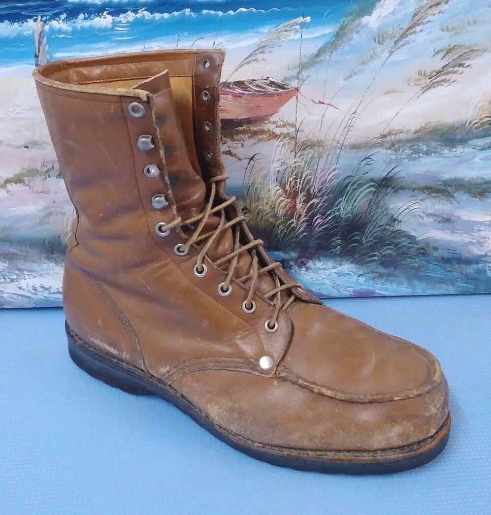 De Colección Montañismo Senderismo Trabajo botas de trabajo de cuero marrón de hombre 10.5 estilo 8001R