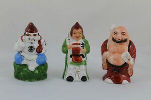 Figuras de Porcelana 3 SABIOS CHINOS Dioses y astros Benefactores. Años 60 China