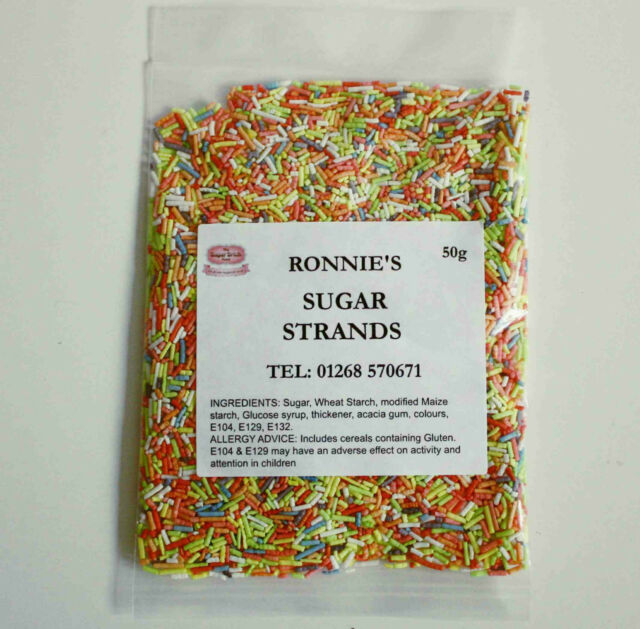 Hundreds & Thousands 50g, Harlequin Sugar Strands, Sprinkles, Cake Decorating