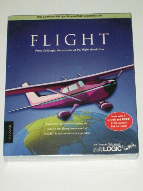 Flight PC Software Sublogic MS Dos CD EUC