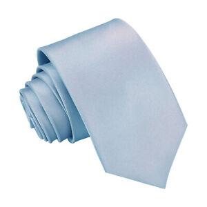 Royal Blue Boys Regular Tie Satin Plain Solid Wedding Kids Necktie by DQT