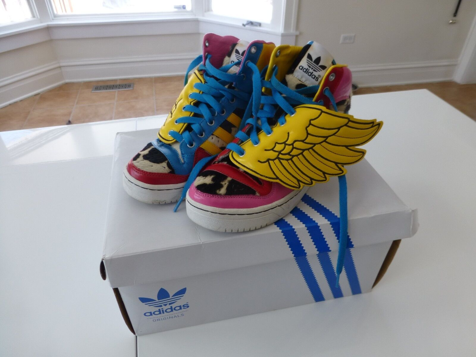 Adidas Originals x Jeremy Scott WINGS x 2NE1 JS COLLAGE WINGS Scott High-tops US male size 8 8bc8ce