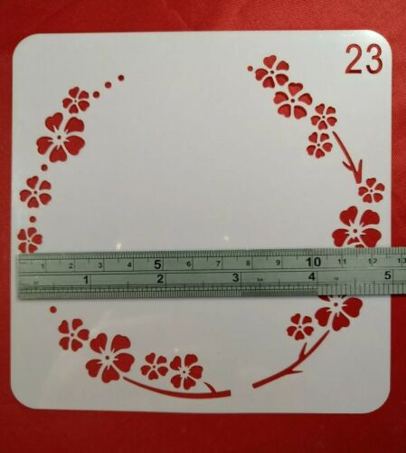 Garland Cherry Blossom Stencil Embossing Scrapbooking Cardmaking Paint Ink  #23