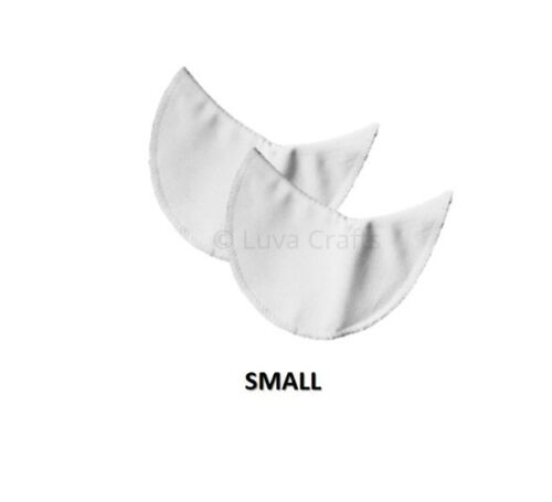Pack of 2 Nortexx White Cotton Sew On Covered Dress Shields Under Arm Comfort
