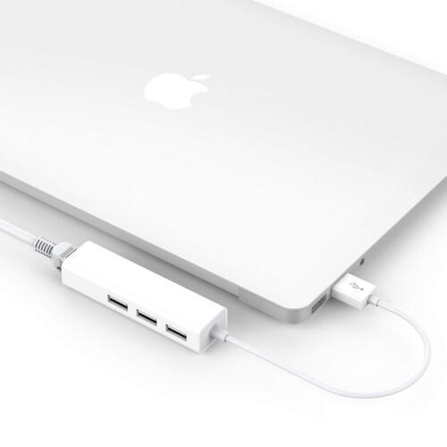 3 USB Port Hub with RJ45 LAN Adapter Laptop Ethernet Dock Network Extender