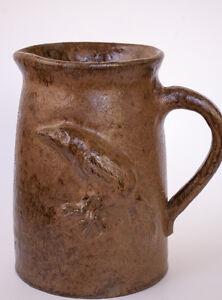 Turkey-Mountain-Pottery-Handmade-Birdie-Pitcher-Signed-Tom-Touchstone-Brown