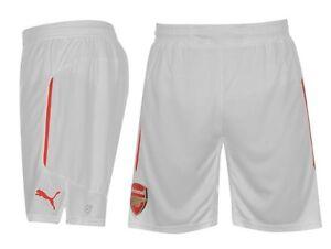 06853e58b La imagen se está cargando Puma-Arsenal-Londres-Heim-Home-Pantalon-2014-2015 -