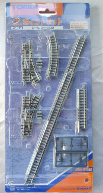 Tomix N Scale 91082 Mini Rail Turnout Set