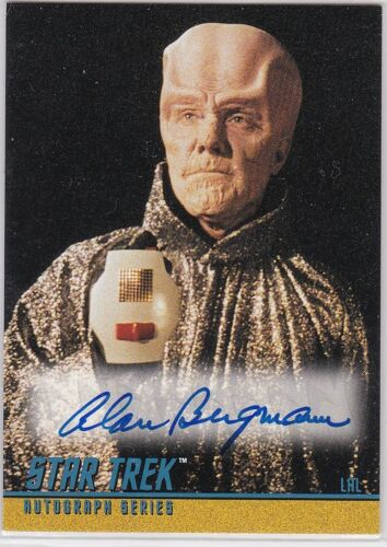 STAR TREK THE ORIGINAL SERIES SEASON 3 A71 ALAN BERGMANN AS LAL AUTOGRAPH