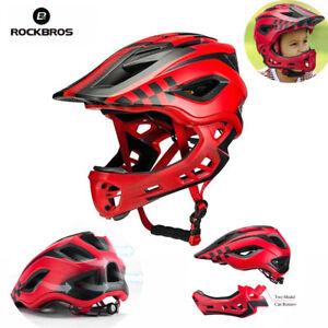 RockBros-Cycling-Child-Helmet-Safety-Kids-Bike-Full-Helmet-Red-Size-M-53-58cm