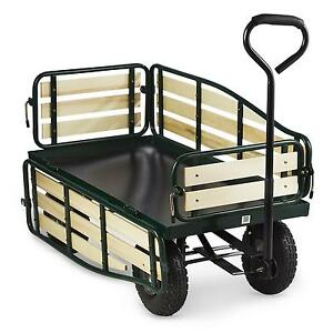 waldbeck chariot brouette 4 roues panier chariot heavy. Black Bedroom Furniture Sets. Home Design Ideas