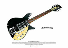 John Lennon's 1958 Rickenbacker 325 Capri ART POSTER A2 size