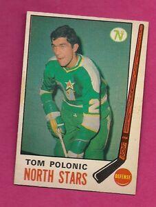 1969-70-OPC-199-NORTH-STARS-TOM-POLONIC-ROOKIE-NRMT-CARD-INV-2454