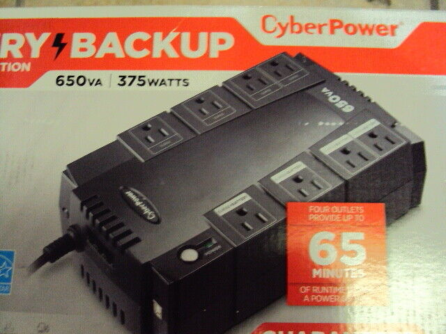 CyberPower - 650VA Battery Back-Up System - Black FREE UPS SHIPPING W/ INSURANCE