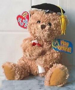 Scholars the Graduation Bear 2.0 TY Online Play Authentic Beanie Baby Bear