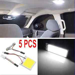5x white 48 smd cob led t10 4w 12v car interior panel light dome lamp bulb ebay. Black Bedroom Furniture Sets. Home Design Ideas