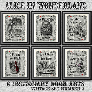 Alice-in-wonderland-vintage-dictionary-art-prints-6-book-pages-quotes
