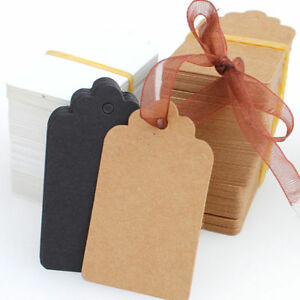 100pcs-Christmas-Kraft-Paper-Gift-Tags-Price-Wedding-Scallop-Label-Blank-Luggage
