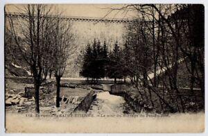 Saint Etienne, France vintage  Postcard CPA - Le Mur Du Barrage / The Dam