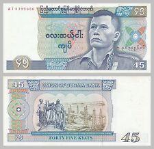 Burma / Myanmar 45 Kyats 1987 p64 unz.
